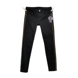 SIZE 27 Black Tape, Low-Rise, Black Skinny Jeans N